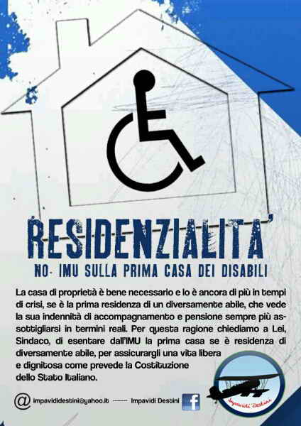 ROMA. No all'IMU per i disabili
